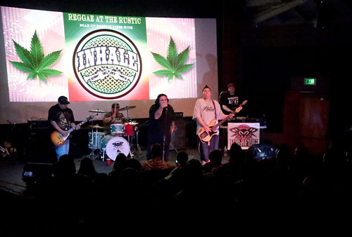 Reggae group INHALE performed at The Rustic Theatre Friday night.