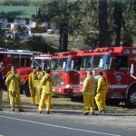County-wide fire drill takes to the hills