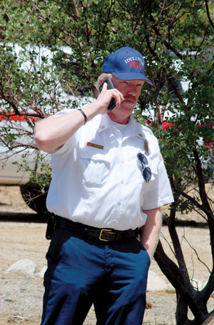 Idyllwild Fire Chief Patrick Reitz was part of the unified command during the drill. Photo by J.P. Crumrine.