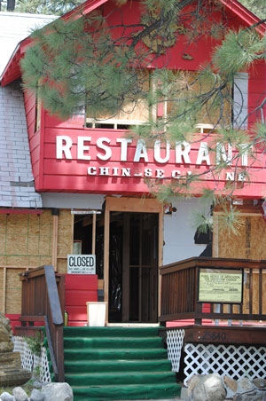Renovation of the former Hidden Village restaurant will be the first project the Idyllwild Historic Preservation District Local Review Board will review. Photo by J P Crumrine