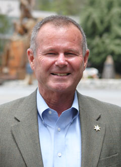Riverside County Sheriff Stan Sniff was in Idyllwild last week. Photo by J.P. Crumrine