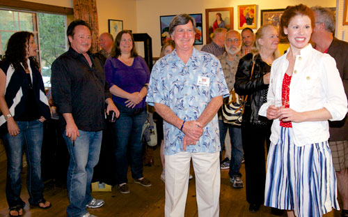 Over the Memorial Day Weekend, the Art Alliance of Idyllwild sponsored a Judged Artist Members' Show and Gallery Working Artist Tour. This judged event included original artwork under $100. After visiting the show, visitors were encouraged to tour member galleries around town.The show was held at the Rainbow Inn, including a Saturday evening reception. Photo by Gina Genis