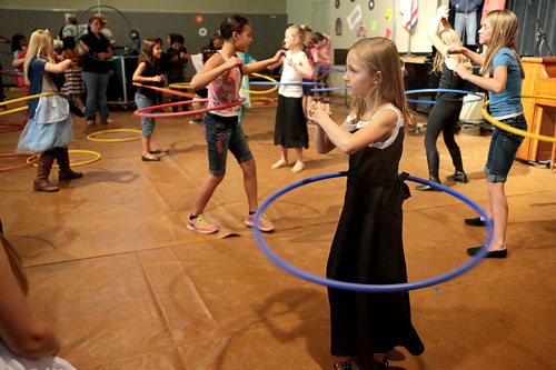 the annual event had a hula hoop contest, bringing out students with their talents. The last one to have the hula hoop going without dropping it was the winner. Photo by Jenny Kirchner