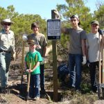 Forest Service volunteers  enlist Boy Scout trail crew