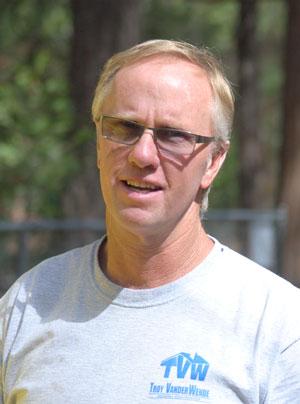 Troy VanderWende, lightning story survivor. Photo by J.P. Crumrine