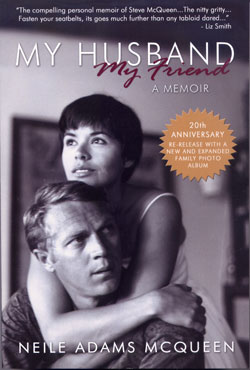 """The cover of Neile Adams McQueen's book, """"My Husband, My Friend,"""" about her life with actor Steve McQueen Photo courtesy Stephen Moyer Public Relations"""