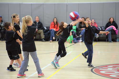 Parents watch during Youth Volleyball at Idyllwild School Tuesday afternoon. The Black Panthers played against the Green Dragons. Photo by Jenny Kirchner