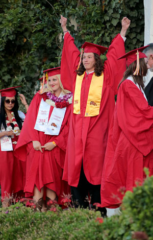 Wednesday, May 28, Eric Gentry was one of several Idyllwild residents celebrating graduation from Hemet High School in 2014.Photo by Jenny Kirchner