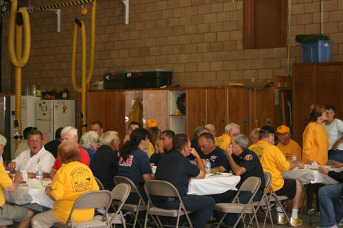 The annual Rotary Ann potluck luncheon was well attended by many locals and service organizations at the Idyllwild Fire Department on Thursday, May 29. Photo by Jay Pentrack