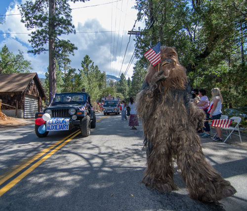 The Idyllbeast celebrates the Fourth of July by marching in the annual parade hosted in Idyllwild. Photo by John Pacheco