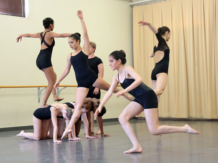 Students in the Idyllwild Arts Summer Program Youth Dance Culmination performed at Fischer Dance Studio on campus Saturday morning, demonstrating the skills they learned while attending the Summer Program. Photo by Jenny Kirchner