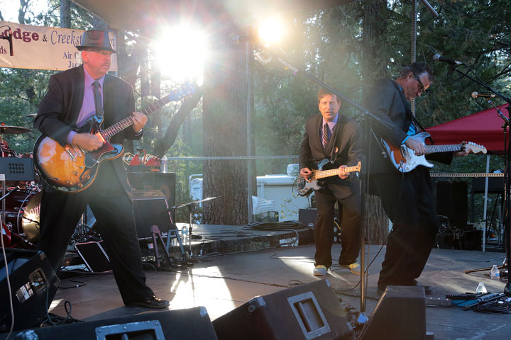 The Buddy Holly Tribute Band was the headline band at the Idyllwild Summer Concert Series Thursday,serving up rockabilly music from one of the most influential artists in rock and roll history. Photo by Jenny Kirchner