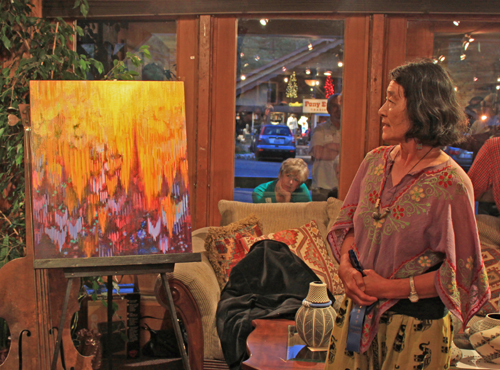 Hiroko Momii moved to Idyllwild in 2012 and joined AAI two days before an art show in July 2012.  File photo/Barbara Reese