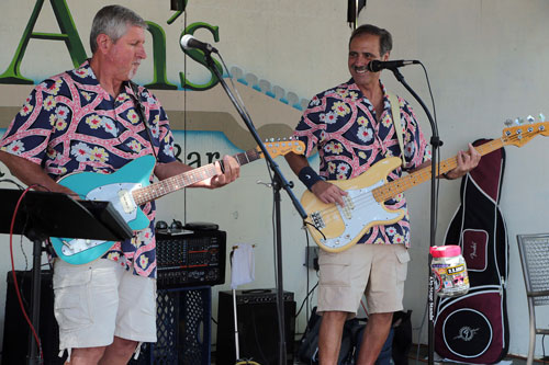 The Fabulous Woodies Band from the San Diego area performed at Jo'An's Restaurant Saturday afternoon in the Beer Garden. Specializing in classic surf instrumentals, the group also played a variety of popular Top 40 songs from past to present. Photo by Jenny Kirchner