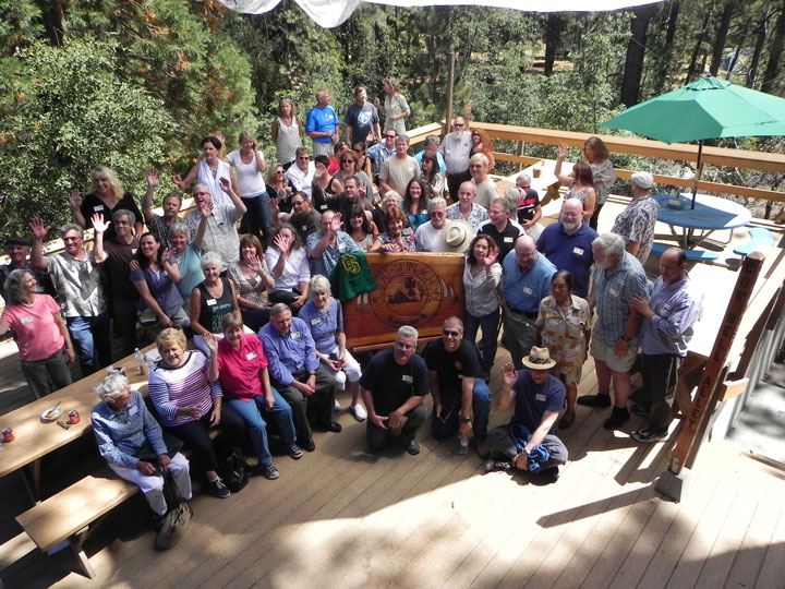 A large gathering of Desert Sun/Elliot-Pope Preparatory School's former students and faculty at last Saturday's reunion at Astrocamp, the former site for the school. Photo by Don Dietz
