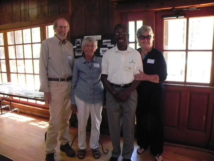 From left, Bob Smith,Margaret Jaenke, Marshall Hawkins and Lynnda Hart at Saturday's gathering. Photo by Don Dietz