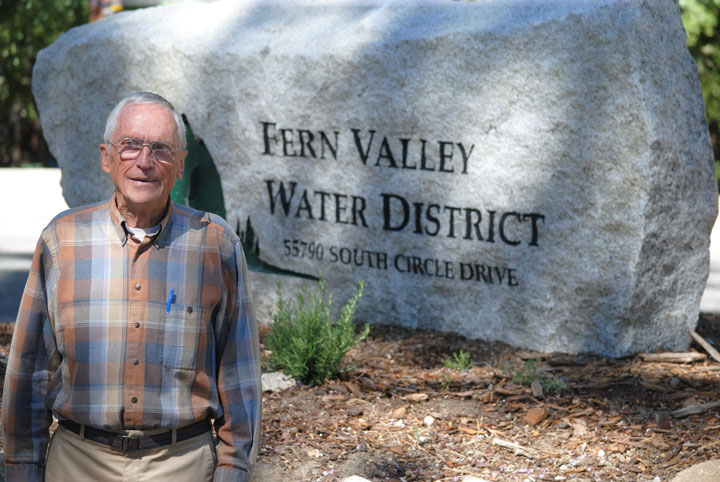 Ron Korman, longtime director of Fern Valley Water District.             Photo by J.P. Crumrine