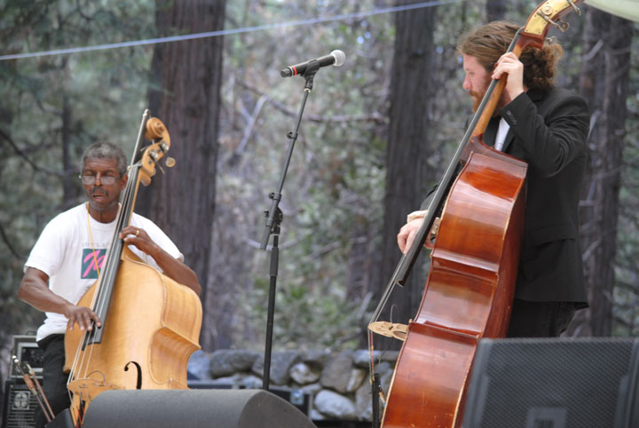 Marshall Hawkins joins Casey Abrams at the 2014 Jazz in the Pines Festival. Photo by J.P. Crumrine