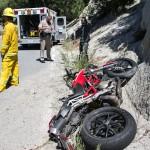 Motorcycle crash on Highway 243
