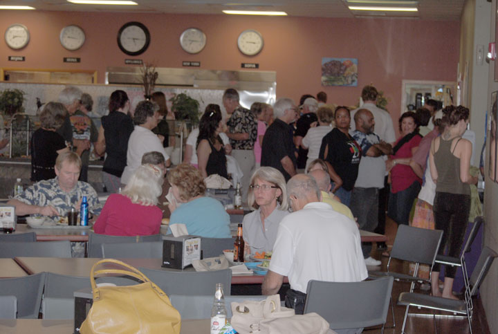 """The Associates of the Idyllwild Arts Foundation hosted its annual """"thank you"""" dinner for all the people who volunteer to help make the Jazz in the Pines festival so successful. This year's event was Wednesday, Aug. 13, at the school's Nelson Dining Hall.           Photo by J.P. Crumrine"""