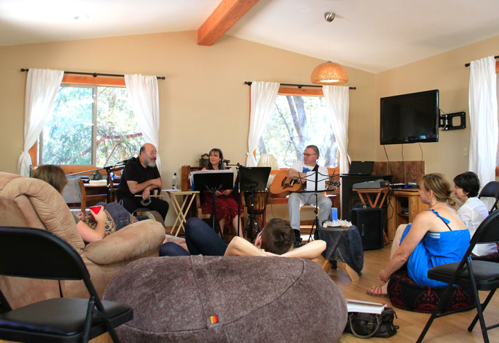 SUNDAY KABBALAH: An afternoon of music and teachings of the Kabbalah held by Dr. Gershon Winkler and Dr. Miriam Maron in Idyllwild last Sunday.              Photo by John Drake