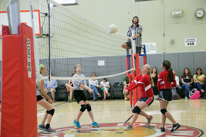 Above, the Idyllwild School Volleyball team played against St. John's Lutheran School from Hemet Monday afternoon at Idyllwild School. Idyllwild School prevailed and walked away with the win. Photo by Jenny Kirchner