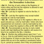 Election and voter registration info