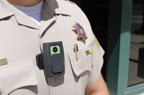 How sheriff's deputies might wear a body camera. Photo courtesy Riverside County Sheriff's Department