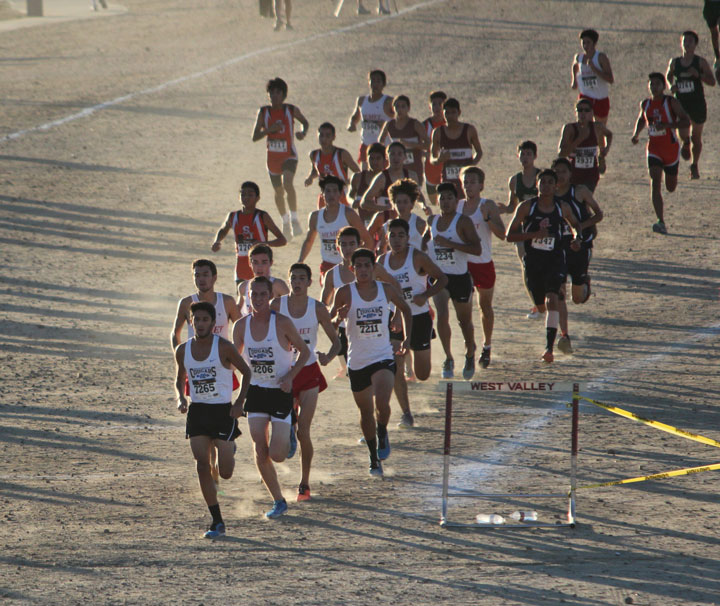 Cross-country runners from six high schools competed in last week's Mountain Pass League Cross-Country finals. Hemet High School's varsity team was second.