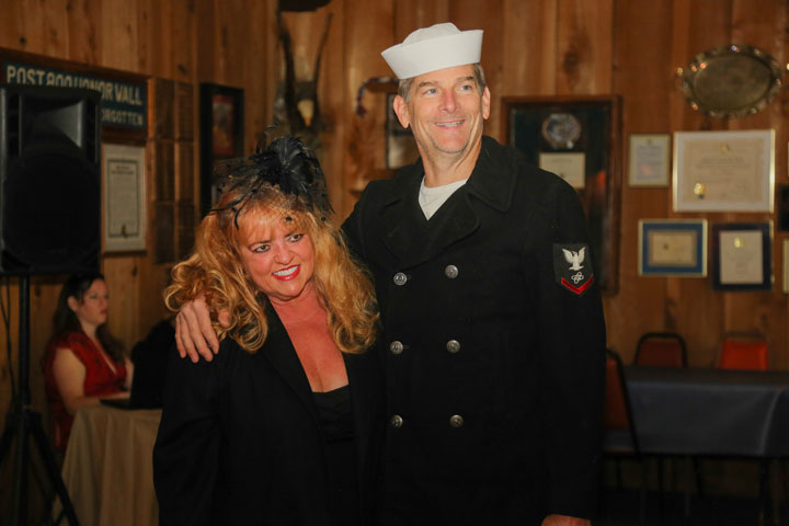 USO DANCE: Laurie and Phil Ansberry of the U.S. Navy attended the American Legion's USO Dance Saturday night. Photo by Cheryl Bayse
