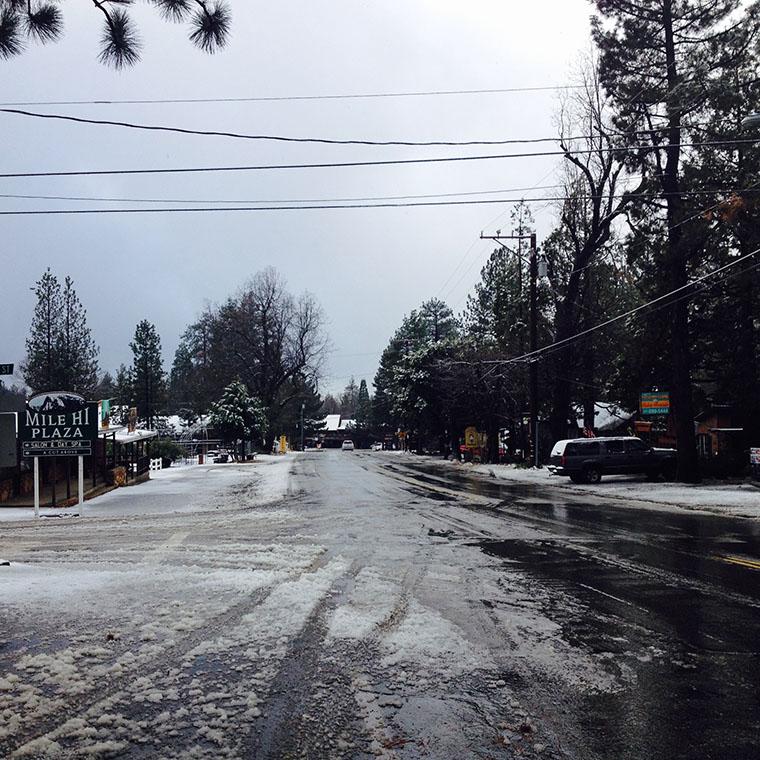 North Circle Drive at Cedar Street. Photo by Halie Wilson