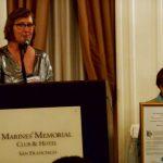 PHOTO: Clark accepts award