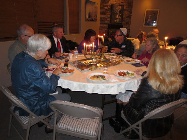 FRIDAY SERVICE: Chanukah Shabbat Service Friday evening at the Temple Har Shalom of Idyllwild, held at the Caine Learning Center.