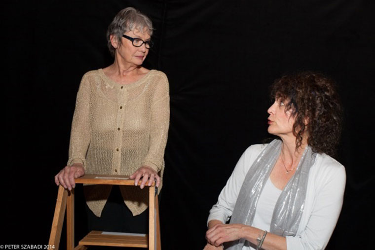 """Michèle Marsh (left) and Susan Hegartyare two of several members of the Isis Theatre Company's troupe of talented actors performing """"A Wilde Holiday: The Star Child and other tales by Oscar Wilde"""" on Dec. 13. Photo by Peter Szabadi"""