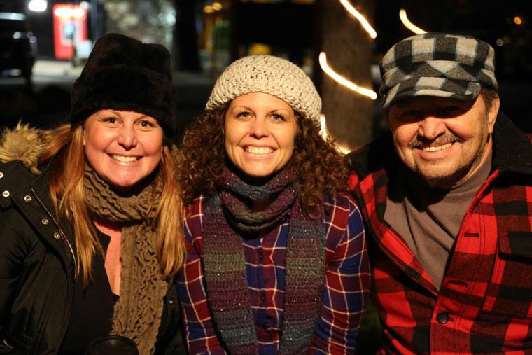Julie, Cheri and Andrew Selva Photo by Cheryl Bayse