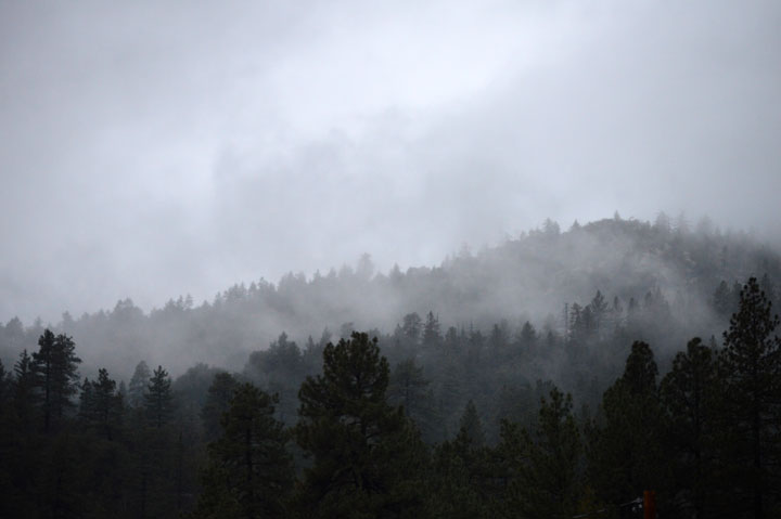 Tuesday's rain left a mist hanging over the Hill Wednesday. Photo by Gallagher Goodland