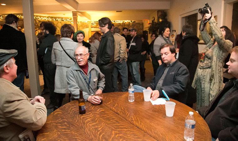 Many came out Tuesday night to the Creekstone Inn for the opening night party of the 2015 Idyllwild International Festival of Cinema. Photo by Jenny Kirchner