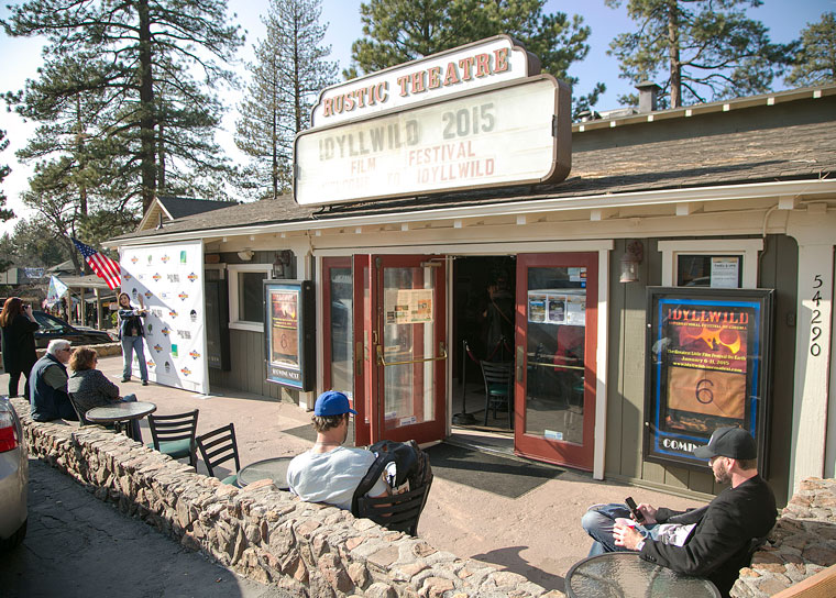 The Rustic Theater is the main stage for the 2015 Idyllwild International Festival of Cinema. Photo by Jenny Kirchner