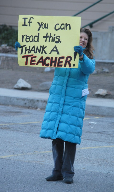 Barbara Longbrook, one of many Idyllwild School teachers upset over the lack of contract with teachers