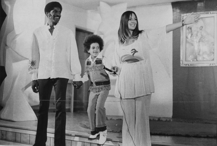 """Christopher, Kristoff and Maria St. John took deserved bows for their """"dramatic collage"""" in October 1974. """"Love, War and the Universe"""" offered everything from Shakespeare to songs to plays at Idyllwild Town Hall. Town Crier File Photo"""