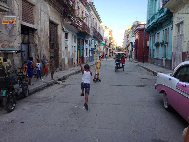 Kids on the street in Havana. Photo by George Companiott