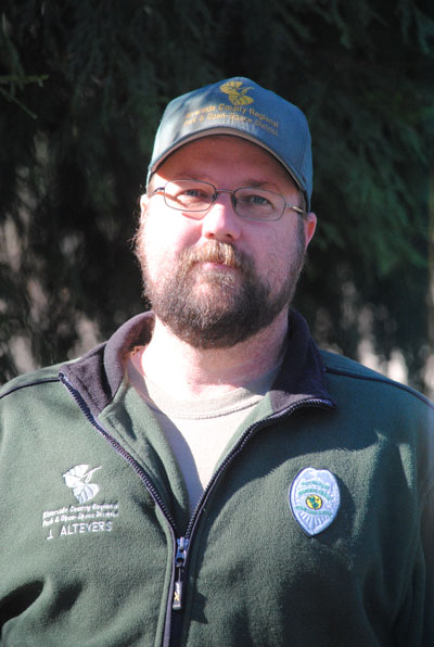 Supervisory Park Ranger Jack Altevers oversees Idyllwild County Park, Hurkey Creek, McCall Park and Lawler Lodge. Photo by J.P. Crumrine