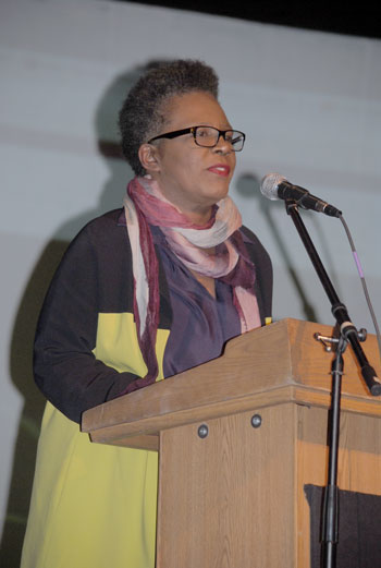 Claudia Rankine, award- winning poet. Photo by J.P. Crumrine