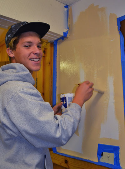 As part of his journey to earn his Eagle rank in Boys Scouts, Chad Schelly (above) of Idyllwild approached Wendy Watts at Town Hall to offer help. He agreed to organize a project to paint the downstairs interior walls and to do yard abatement. In scouting, a young man cannot earn his Eagle until he has completed a service project that is helpful to any organization in his community.The Scout is required to plan, develop and give leadership to others in this project. Chad's project involved more than 75 hours of volunteer time. Chad hadseven other Scouts from his troop helping.