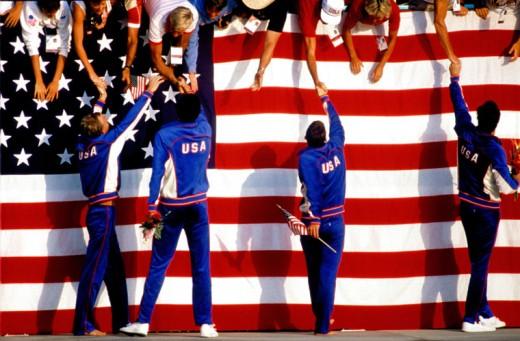 one of Rick Rickman's Pulitzer Prize-winning photos from the 1984 Olympics at Los Angeles. Photo courtesy Rick Rickman