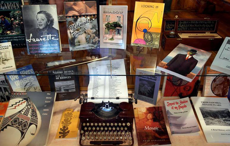 A display of local authors' books at the Idyllwild Area Historical Society. Photo by Richard Barker