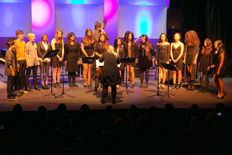 Idyllwild Arts Jazz students performed at the Winter Jazz Concert on Tuesday night a week ago on campus. The theater was filled to the brim with fellow students, parents and visitors. Photo by Jenny Kirchner