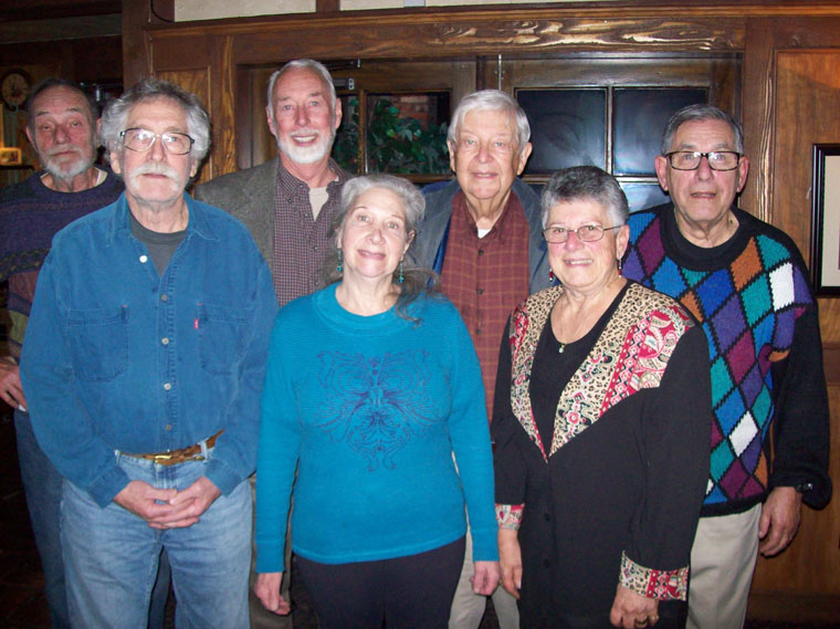 The 2015 Mountain Community Patrol Board of Directors posed for this photo. The members (front row, from left) are Jon Engle, 2nd vice president; Judi Milin, secretary; and Annamarie Padula, treasurer. Back row, from left are John Edminston, president; Bob Rahman, vice president; and Mel Goldfarb and Brian Lodge, members at large. Photo courtesy Annamarie Padula