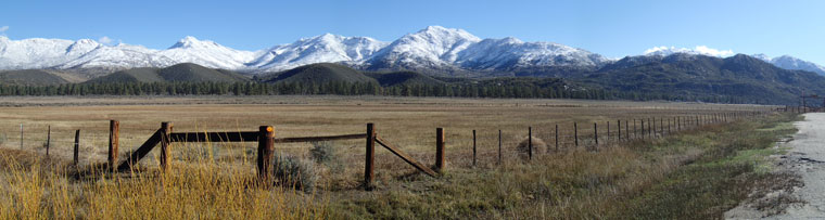 Snow-capped mountains frame Garner Ranch on Tuesday morning after a Sunday and Monday snowstorm. Photo by Halie Wilson