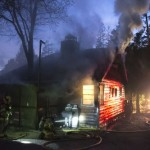 Structure fire on Lodge Road